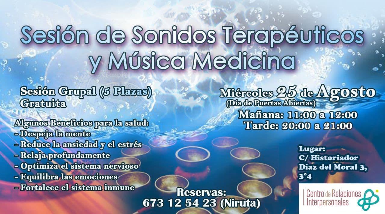 Sonidos terapeuticos Sonoterapia Armonia Musica medicina